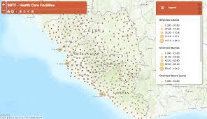 Mali Location On World Map by Health Facilities In Guinea Liberia Mali And Sierra Leone