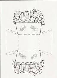 make an easter basket easter basket craft template pinterest