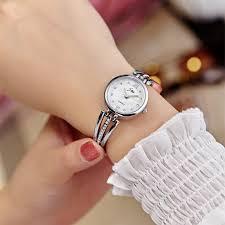 ladies steel bracelet images New fashion rhinestone watches women luxury brand stainless steel jpg