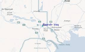 map of basra basrah iraq tide station location guide