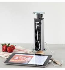 multiprise design cuisine bloc multiprises escamotable msa pour votre cuisine moderne sur mesure