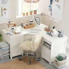 Pottery Barn White Desk With Hutch Beadboard Smart Corner Desk Pbteen