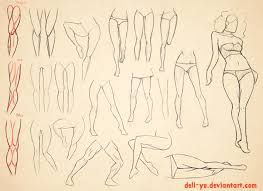 drawn legs anatomical pencil and in color drawn legs anatomical