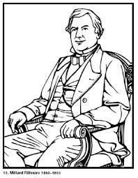 free printable coloring pages of us presidents millard fillmore 13th president of the united states free