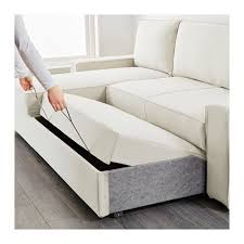Ikea Sofa Bed With Chaise by Sofa Bed With Chaise Longue Vilasund Ramna Beige Chaise Longue