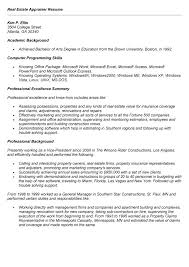 property claims adjuster resume property appraiser cover letter
