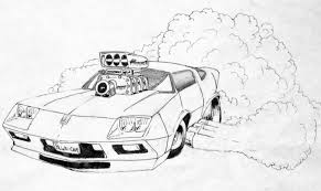 cartoon sports car black and white uncategorized scary reasoner page 14