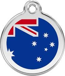 Pictures Of The Australian Flag Red Dingo Enamel Tag Australian Flag Dark Blue 01 Au Db 1auns