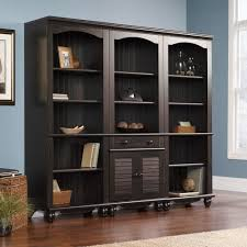 sauder bookcase with glass doors harbor view 2 door storage cabinet by sauder best home furniture
