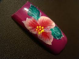 bright exotic flower nail art design tutorial youtube