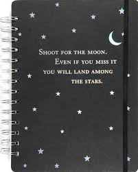 shoot for the moon journal notebook diary pauper press