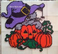 cat halloween hama perler beads by deco kdo nat projekter jeg