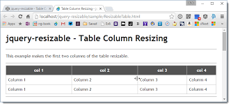 Jquery Resizable And Table Column Resizing Rick Strahl S Web Log