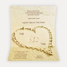 marriage cards wedding cards parchment with hearts in the sand