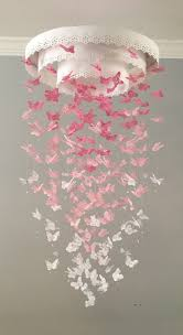 Pink Nursery Chandelier The Original Paper Lace Chandelier Monarch Butterfly Mobile