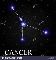 Zodiac Sign Cancer Zodiac Sign With Beautiful Bright Stars On The Background