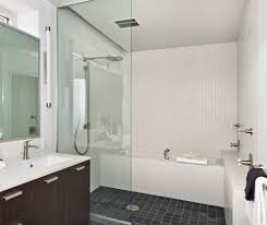 montreal tub shower combo bathroom modern with contrast square