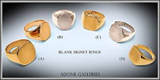 signet ring men gold silver men women signet rings blanks