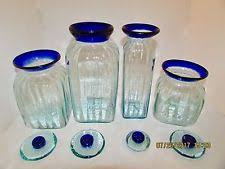 glass canister sets for kitchen handmade kitchen canister sets ebay