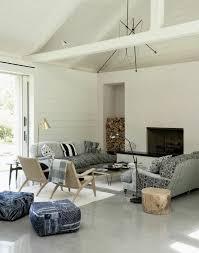 Living Room Polished Concrete Floor Contemporary Home Interior - Contemporary home interior design ideas