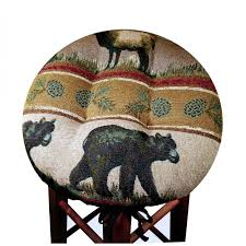 Round Bar Stool Covers Bar Stool Cushions With Elastic Cushions Decoration
