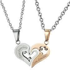 for couples promise necklaces for couples necklaces for couples design
