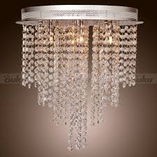 Crystal Flush Mount Lighting Us Modern Crystal Pendant Lamp Ceiling Lighting Rain Drop