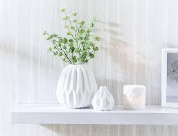 White Vase Chalky Vases U0026 Tealight White