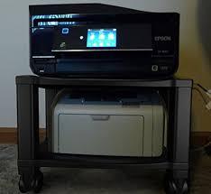 Under Desk Printer Stand With Wheels Printer Stand With Wheels 2 Tiers Shelf Small Under The Desk