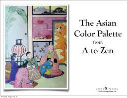 zen color asian color palette from a to zen