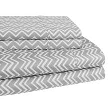 elite home chevron 300 thread count twin xl sheet set silver