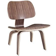 eames style chair amazon com modway fathom plywood lounge chair in walnut kitchen