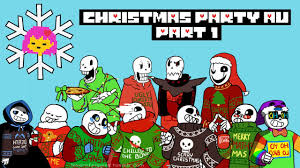 holiday undertale comic christmas party au 1 5 youtube