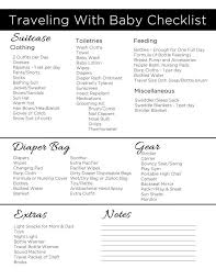 traveling checklist images Traveling with baby printable packing checklist pinterest jpg