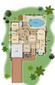 color floor plan and brochure samples on behance color floor plan sample florida style home design custom design by bluestream web inc cad work drawn in softplan v 2014 color and texture work in