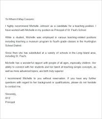 collection of solutions letter of recommendation for teacher
