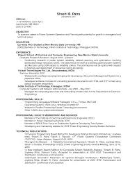 examples of work experience on resume resume for study