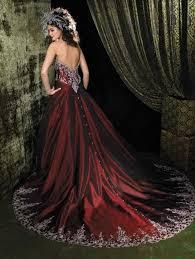 image result for red and black wedding dresses wedding