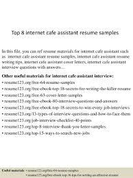cafe attendant cover letter