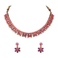 ruby necklace set images Ruby necklace set shri krishna pearls jpg