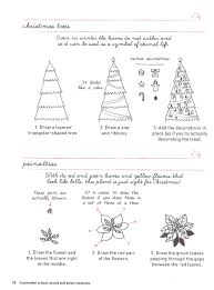 craftside how to draw a christmas tree and poinsettias from the