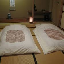 Traditional Japanese Bedroom - traditional japanese room with gray japanese futon ikea bed with