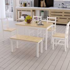 wooden kitchen table chair sets with 6 pieces ebay