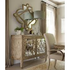 sanctuary 4 drawer console table hooker furniture sanctuary two door mirrored console in surf visage