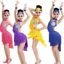 child tassels dresses kids ballroom dresses