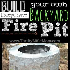 diy backyard pit easy diy inexpensive firepit for backyard 盪 thrifty