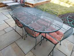 Wrought Iron Patio Tables Commendable Wrought Iron Patio Table For 8 Tags Rod Iron Patio