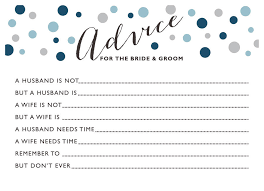 advice to the and groom cards wedding advice cards