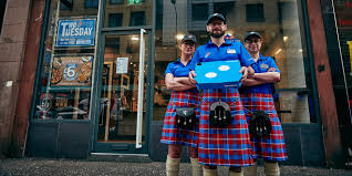 domino u0027s just made kilt uniforms in scotland out of its new