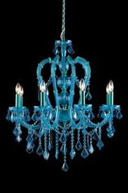blue crystal chandelier light a cheery wedding with a turquoise orange and yellow color palette